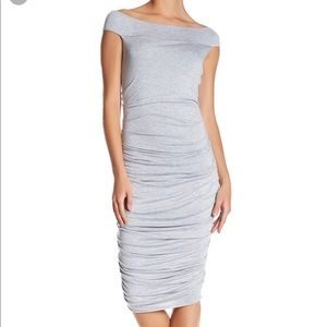Bailey 44 Grey Figure Flattering Dress NWOT